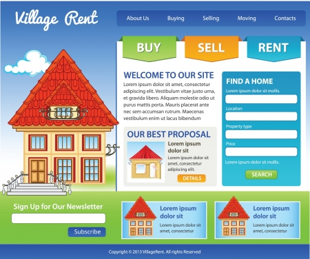 Template website for Real Estate business