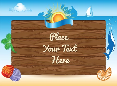 sea summer travel background Vector