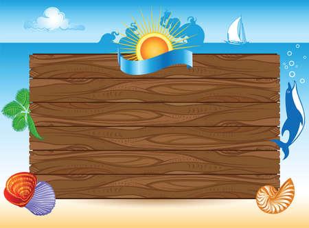 sea summer travel background Stock Photo - 19156745