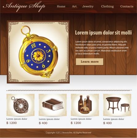 furniture shop: Design template for Antique shop website