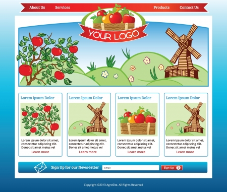 agro: Agro Business web template with illustrations Illustration