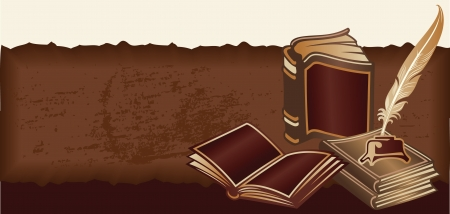 literary: Retro background with Vintage Books