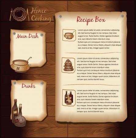 Retro Background for Food Recipe Menu Template