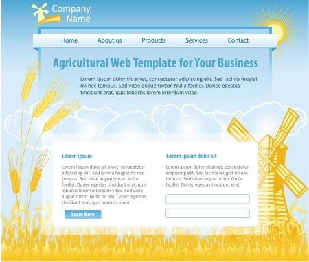 web design template: Agriculture theme web design template
