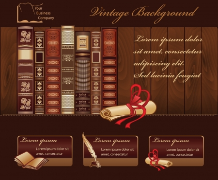 Vintage Book Background for Web Template