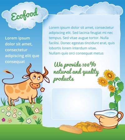 Background for Ecology Food Illustration