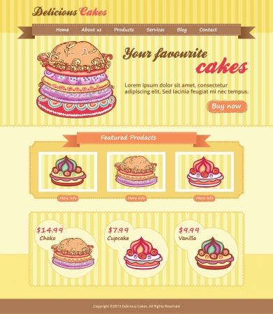 Cake Shop Design for website Vector