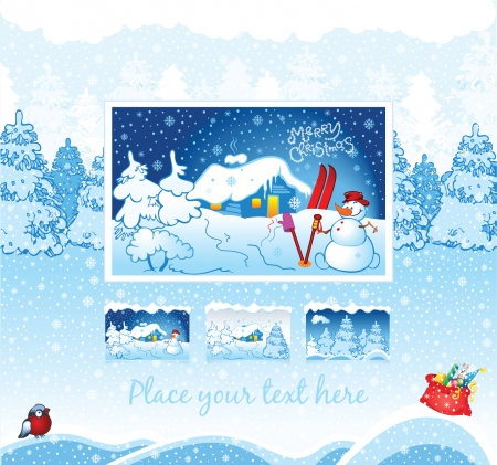 winter holiday background for web template Vector