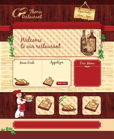 Web template for retro restaurant or cafe