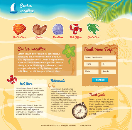 Beach background for travel website