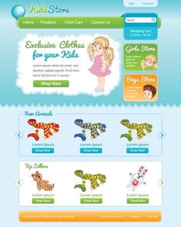 Web template for on line kid shop Illustration