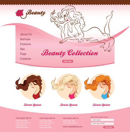 site web: Progettazione per il sito web bellezza