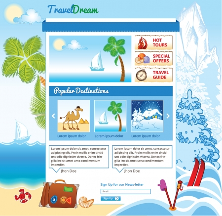water skiing: Tourism template for web site