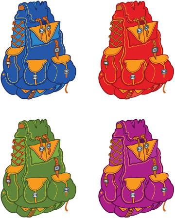 rucksack ': Set of travel backpacks Illustration