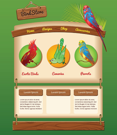 warble: Nature template for bird store