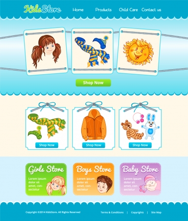 Web template for baby shop