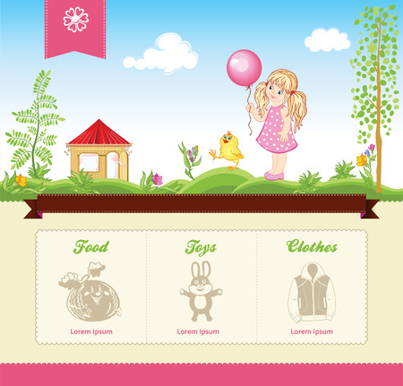 web site: Kid template for web site Illustration
