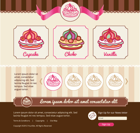 pastry shop: Dessert theme for web template