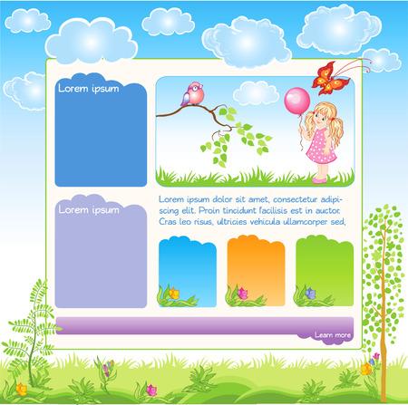 Cartoon Kid web template