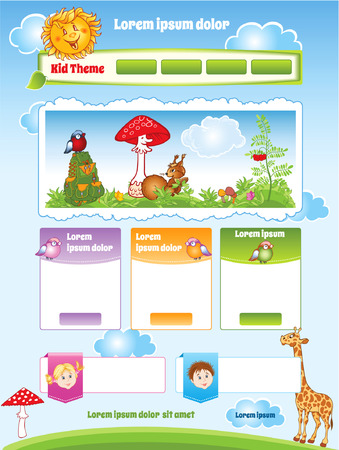 Kid theme for web template