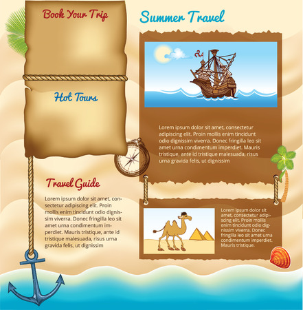 shore line: Background for summer travel template