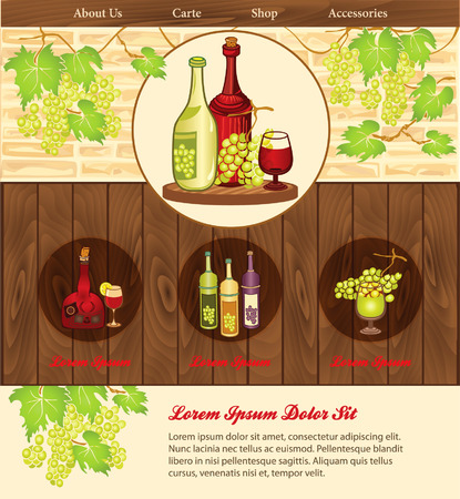 aperitif: Beverage background for web template Illustration