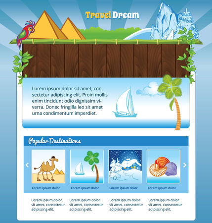 winter and summer travel template for web site