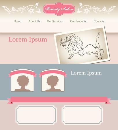 web site: Romantic template for web site