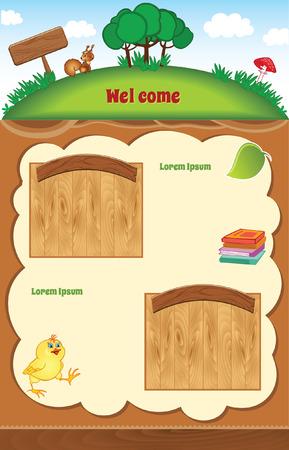 Cartoon childish template