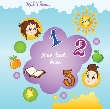 flyer background: Kid template with circles