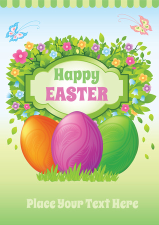 happy easter template easter egg royalty free cliparts vectors