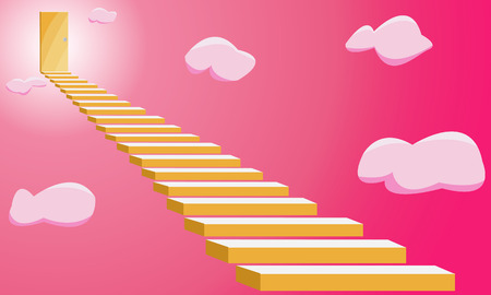 way to go: there is a way to go to heaven Illustration