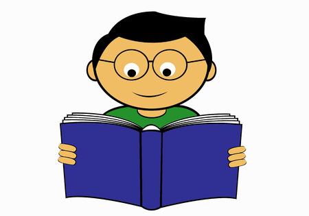 verb: leyendo un libro a fullfilling su tiempo