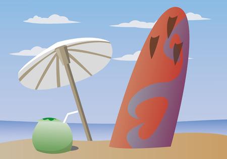 summer surf Illustration