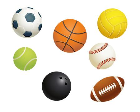 スポーツ ボール  イラスト・ベクター素材