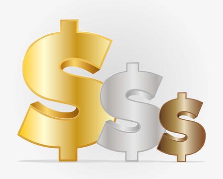 signos de pesos: signos de dólar Vectores
