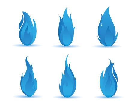 blue gradient flame illustration Illustration