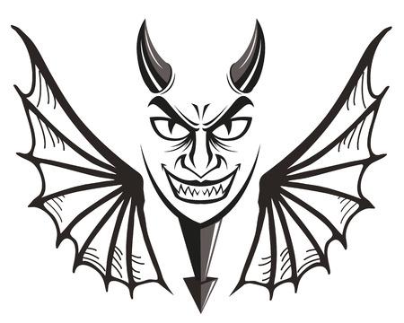 red devil: devil face