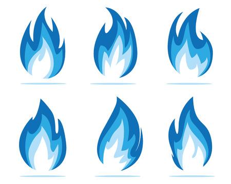 blauwe vlam illustratie Stock Illustratie