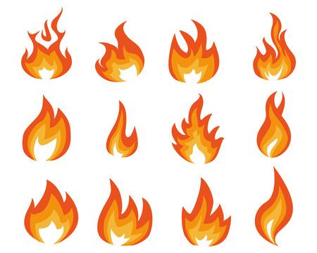 flame energy illustration Illustration