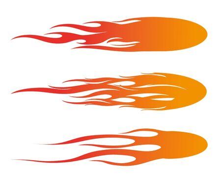 gradient color of fireball Illustration