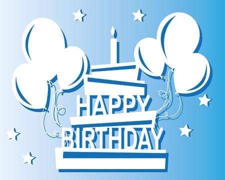 felicitaciones cumpleaÑos: diseño plano feliz cumpleaños Vectores