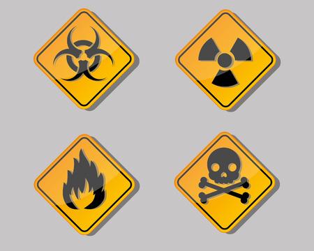 laser hazard sign: warning symbol Illustration