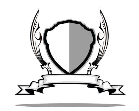 zwaard schild badge