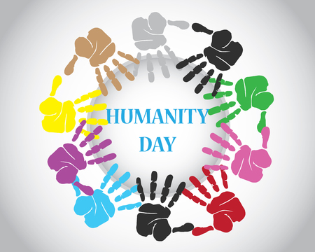 four color printing: world humanity day