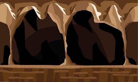Ilustración de fondo de la cueva