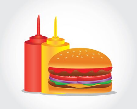 Hamburger is a food item consisting of a cooked beef patty