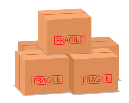 package box stack illustration