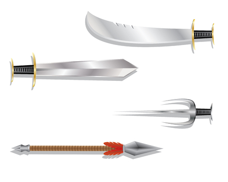 weapons: traditional weapons Illustration