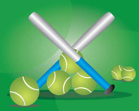 Baseball is a bat-and-ball game played between two teams of nine players each, who take turns batting and fielding Illustration